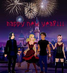 Happy New Year from Morpheus, Alyssa, Jeb & Jenara The Wonderland Crew Celebrating New Years Eve! Alice Liddell, Lewis Carroll, Tim Burton, New Years Eve, Happy New Year, Alice In Wonderland, Book Memes, Celebrities, Books