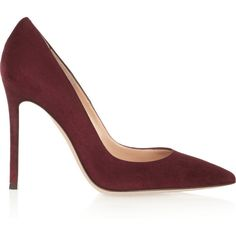 Gianvito Rossi Suede pumps (9.309.905 IDR) ❤ liked on Polyvore featuring shoes, pumps, heels, обувь, gianvito rossi, burgundy, heels & pumps, pointy toe high heel pumps, suede slip on shoes and burgundy pumps