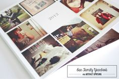 Our family yearbook via ArtifactUprising | Dream Green DIY
