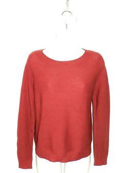 NWOT Eileen Fisher Merino Wool Sweater Sz S 6/8 Persimmon #EileenFisher #Crewneck