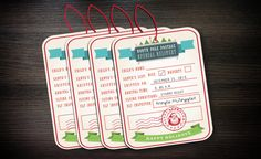 North Pole gift tags  Special Delivery by HopSketchDesigns on Etsy