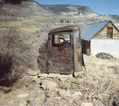 This is a 1941 Ford formed into an outhouse. You can wave & converse while doing your business