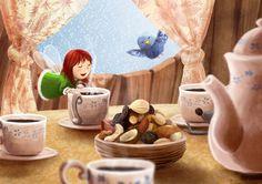 The sweet smell of breakfast by Ansheen on DeviantArt