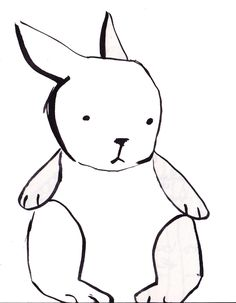 line simple drawing animals bunny rabbit drawings easy bird animal tutorial draw clipart wolf clip cliparts horse portrait very cartoon
