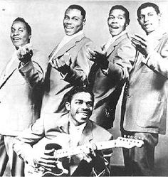 """The Spaniels were an doo-wop group, best known for the hit """"Goodnite, Sweetheart, Goodnite"""". They have been called the first successful Midwestern R group. Some historians of vocal groups consider Pookie Hudson to be the first true leader of a vocal group, because the Spaniels pioneered the technique of having the main singer solo at his own microphone, while the rest of the group shared a second microphone.    The Spaniels, big hit, """"Goodnight Sweetheart."""""""