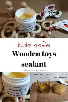 Easy to make, kids safe, beeswax sealant for wooden toys. I love the idea that i… - Kids&Baby Toys Wood Kids Toys, Wood Toys Plans, Wooden Baby Toys, Kids Wood, Diy Wooden Toys For Toddlers, Diy Kid Toys, Children Toys, Toddler Toys, Making Wooden Toys