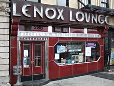 The historic Lenox Lounge has been a focus of the Harlem community since the late 1930s, featuring jazz legends such as Billie Holiday, Miles Davis, and John Coltrane, as well as reputedly being a hangout for Malcolm X.    Inside is one of the few original art-deco club interiors left in New York City.