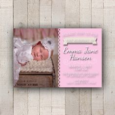 Baby Blessing Christening Invitation by bowpeepcreations on Etsy