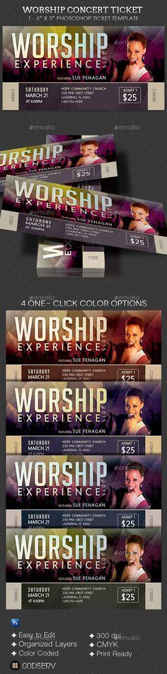 Church Worship Concert Ticket Template Concert ticket template - concert ticket layout