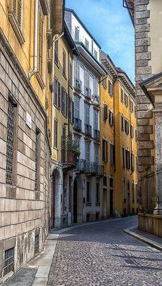 Milano, via dell'Ambrosiana Italy