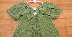 Here are the Baby Leaves Sweater that I have made for some precious little baby girl. The original one is here . This is what I did dif...