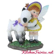 Happy Easter Lamb & Fairie - From Series Twenty Seven of the My Little Kitchen Fairies collection