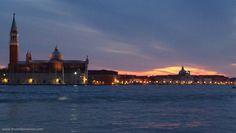Tramonto sulla Giudecca a Venezia