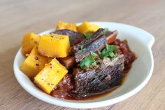 Savory Roasted Pumpkin with Beef Short Ribs | Mark's Daily Apple #shortribs #paleo #grassfed
