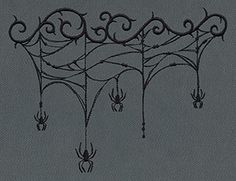 Gothic Gala - Cobweb Drape - Thread List | Urban Threads: Unique and Awesome Embroidery Designs