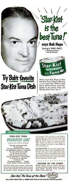 Bob's disembodied head is really digging that Tuna Macaroni Loaf.