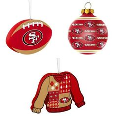 fb8c169a7 NFL San Francisco 49ers Foam Christmas Ball Ornament Repeat Glass Ugly  Sweater
