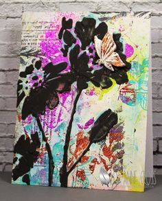Foils and Flowers created with STAMPlorations stamps and ARTplorations stencils