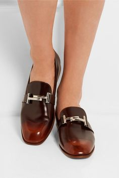 Slight heel Brown leather Slip on Designer color: Cuoio Scuro Made in Italy