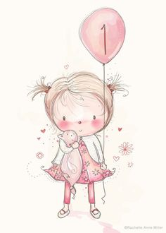 Rachelle Anne Miller is a published children's illustrator selling art prints and greeting cards of her whimsical artwork. Art Drawings For Kids, Cute Drawings, Art For Kids, Watercolor Cards, Whimsical Art, Painting For Kids, Cute Illustration, Baby Cards, Nursery Art