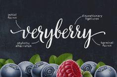 Veryberry Script Font by MyCreativeLand http://crtv.mk/e09pe