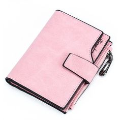 Contrast Trim Plain Wallet ($20) ❤ liked on Polyvore featuring bags, wallets, pink bag, decorating bags, pink wallet, faux-leather bags and fake bags
