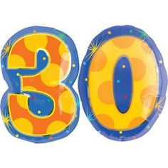 Number 30 Balloons - Helium filled