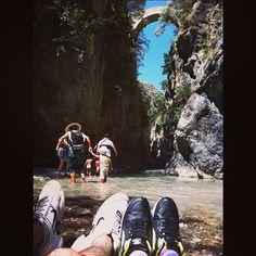 Water under the bridge, I'm amazed at the change in me  #Nicedayin Raganello's gorges, Calabria #nicedayin #raganello #calabria #fiume #canyoning #trakking #cift #pontedeldiavolo #Italy #pies #piedas #piedi #scarpe #selfeet #soeselfie #footselfie #buonadomenica #niceday #live #love #happyfeet #ayaklar #feet #foot #gorges #river #canyon #füße #civita