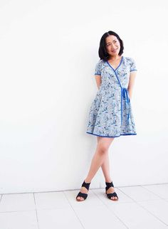 DIY Wrap Dress: This is McCalls Patterns M6959. I shortened the skirt slightly. The fabric is Japanese cotton lawn - I highly recommend this sewing pattern! You can see all the sewing steps on my Sew-along blog series. Here's a code to get 15% off my ebooks: PINTEREST15