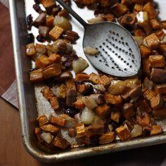 Roasted Sweet Potatoes and Pears. Recipe from Gena Knox. Photo by Mali Azima.
