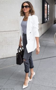 Another day, another outfit: Alesha Dixon looked absolutely sensational as she continued to promote her latest single, The Way We Are, at the BBC radio studios in London on Tuesday