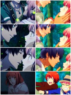 Uta No Prince Sama is a good anime for girls but isn't so romantic but so funny . The first picture from the first and second picture is from the second series