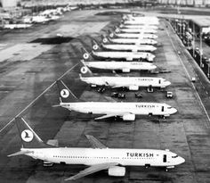 Turkish Airlines 1970's Turkish Airlines, Old Photos, Istanbul, Fighter Jets, Nostalgia, Aircraft, History, Wallpaper, Civil Aviation