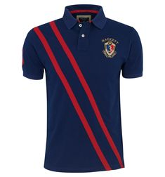 Navy blue polo shirt - by Hackett
