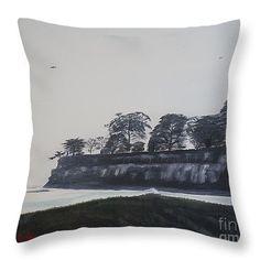 """Santa Barbara Shoreline Park Throw Pillow 14"""" x 14"""""""