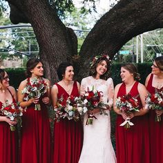 Elegant Red Bridesmaid Dresses // A Rustic Red and White Woodland Inspired Central Florida Wedding Red Bridesmaids, Red Wedding Dresses, Wedding Bridesmaid Dresses, Wedding Colors, Wedding Ideas, Trendy Wedding, Wedding Flowers, Geek Wedding, Bridesmaid Bouquet