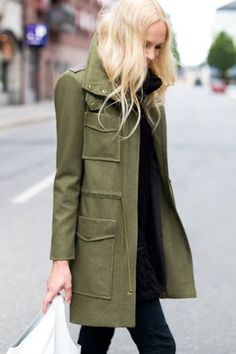 green utility coat by emerson fry (fall collection)