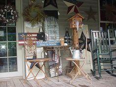 Americana Porch Decor   americana porch decor -