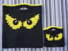 Spooky Eyes Halloween Bags CROCHET PATTERN by bearsy43 on Etsy, $2.95