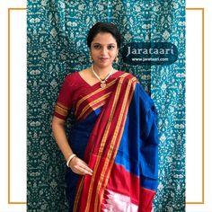 Saree Tassels Designs, Silk Saree Blouse Designs, Handloom Saree, Silk Sarees, Ethinic Wear, Saree Photoshoot, Traditional Looks, Saris, Cotton Silk