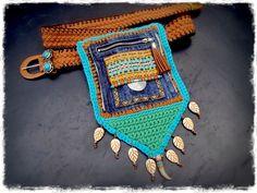 Native Tribal HIP Bag BELT Fannypack Indian hippie accessory Denim medicine bag Utility Belt bag Pouch