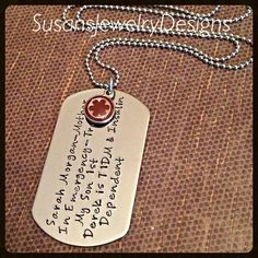 Medical Alert Dog tag Necklace stainless by SusansJewelryDesigns