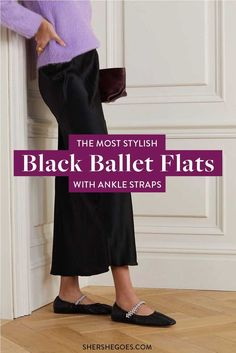 ballet flats will never go out of style. they're chic, they're comfortable and they match anything in your wardrobe. here are the best black ballet flats to shop now #balletflats #balletshoes #flats #classicshoes #womensshoes #amazonfinds Black Ballet Flats, Black Flats, Ballet Shoes, Best Black, Ankle Straps, Going Out, Harem Pants, Shop Now, Stylish