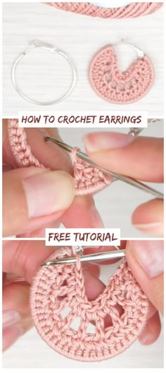 How To Crochet Earrings Free Tutorial - Crochetopedia