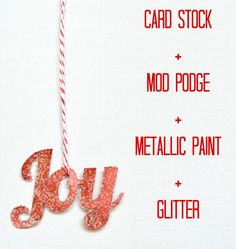 crafterhours mod podge paper ornament