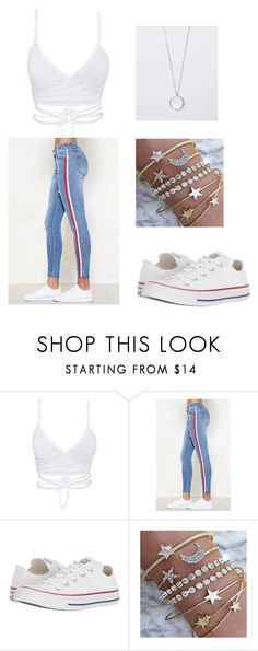 """casual outfit"" by jada-boyles on Polyvore featuring Nasty Gal and Converse"