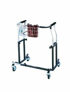 Bariatric Heavy Duty Anterior Safety Roller by Drive Medical. $425.70. Color: Black. Material: Steel. User Size: Bariatric. Weight Capacity: 1000 lbs. Allergy: Latex Free. Welded steel frame. Applying pressure to the handlebar activates breaking mechanism. When brake is engaged, the brake stopper hits the wheel and the wheels cannot roll. Ideal for patients with limited hand function and/or limited cognizance. The Safety Roller halts in step with the patient an...