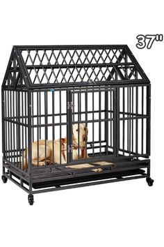 20 Pet Kennel Cat Rabbit Folding Steel Crate Animal Playpen Wire Waterproof Secure for Training Pet Supplies Accessories Homes for Pets Dog Crate Single Door Pet Cage