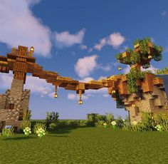 Minecraft Server, Casa Medieval Minecraft, Minecraft Bridges, Minecraft Farm, Minecraft Cottage, Minecraft Structures, Easy Minecraft Houses, Minecraft House Tutorials, Minecraft Castle