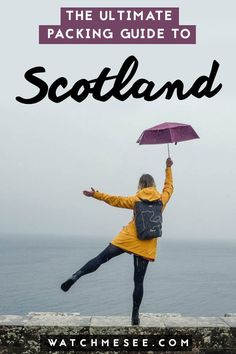 Packing Tips & the ultimate Packing List for Scotland Planning to travel or study abroad in Scotland? Here's exactly what to wear whether it's summer, spring, winter, or fall and a packing list for every activity! Summer Packing Lists, Fall Packing, Packing List For Travel, Europe Travel Tips, Packing Tips, European Travel, Travel Guides, Travel Destinations, College Packing